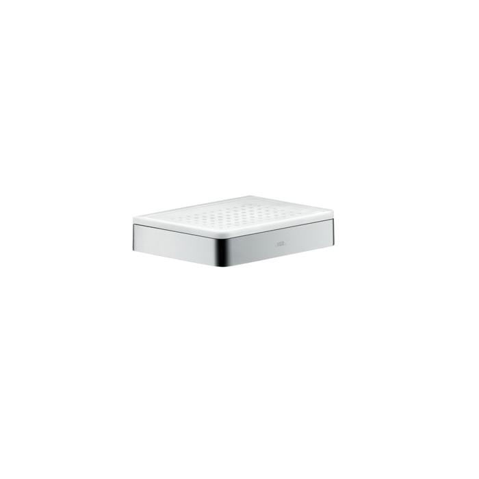 Hansgrohe 42803000 Axor Universal EU Version Soap Dish, 5-7/8 in W x 4-3/8 in D x 1-1/4 in H, Glass/Metal, Chrome Plated, Import