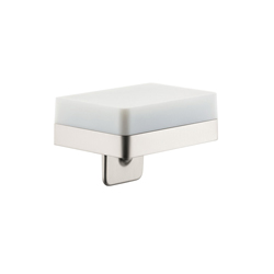 Hansgrohe 42819820 Axor Universal EU Version Soap/Lotion Dispenser With Integrated Shelf, 180 mL, Wall Mount, Glass/Metal/Brass, Brushed Nickel