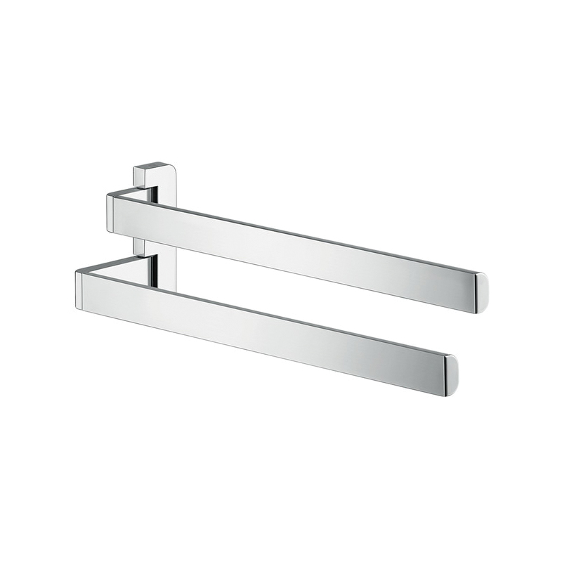 Hansgrohe 42821000 Axor Universal EU Version Wall Mount Double Arm Hand Towel Holder, 3-1/4 in OAD x 4-3/4 in OAH, Metal, Import
