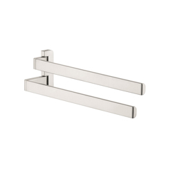 Hansgrohe 42821820 Axor Universal EU Version Wall Mount Double Arm Hand Towel Holder, 3-1/4 in OAD x 4-3/4 in OAH, Metal, Import