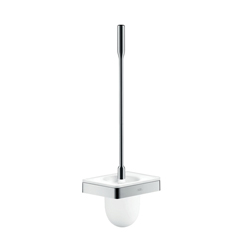 Hansgrohe 42835000 Axor Universal EU Version Toilet Brush With Holder, 18-1/4 in H, Glass/Metal, Chrome Plated, Import