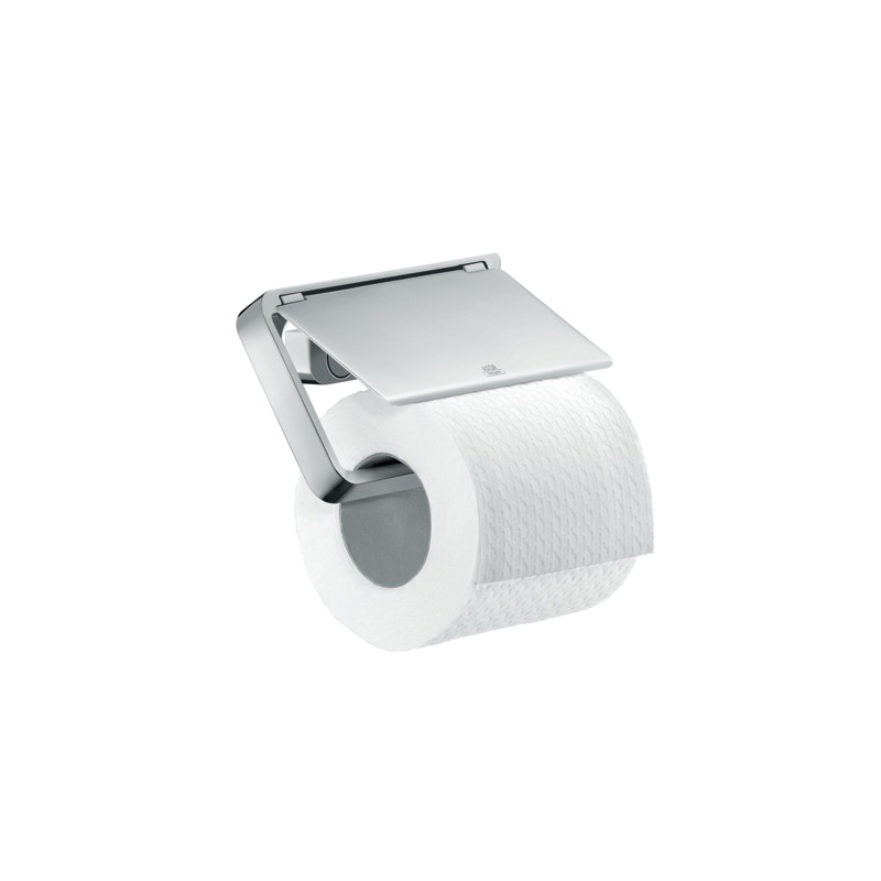 Hansgrohe 42836000 Axor Universal Toilet Paper Holder, 3-1/8 in H, Metal, Chrome Plated, Import