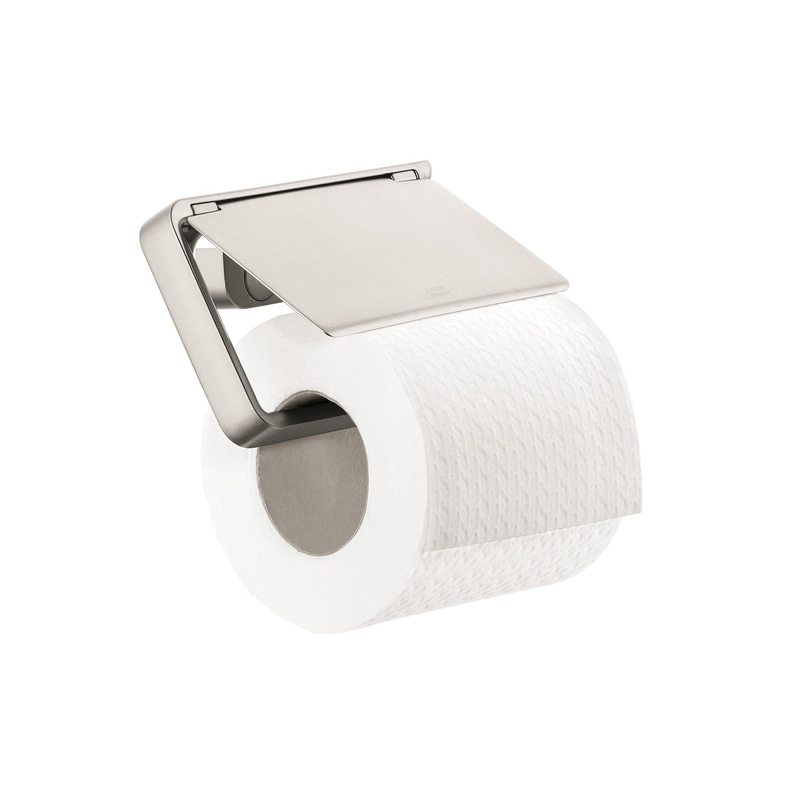 Hansgrohe 42836820 Axor Universal Toilet Paper Holder, 3-1/8 in H, Metal, Brushed Nickel, Import