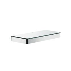 Hansgrohe 42838000 Axor Universal EU Version Shelf, 11-3/4 in OAL x 4-3/8 in OAD x 1-1/8 in OAH, Glass/Metal, Import