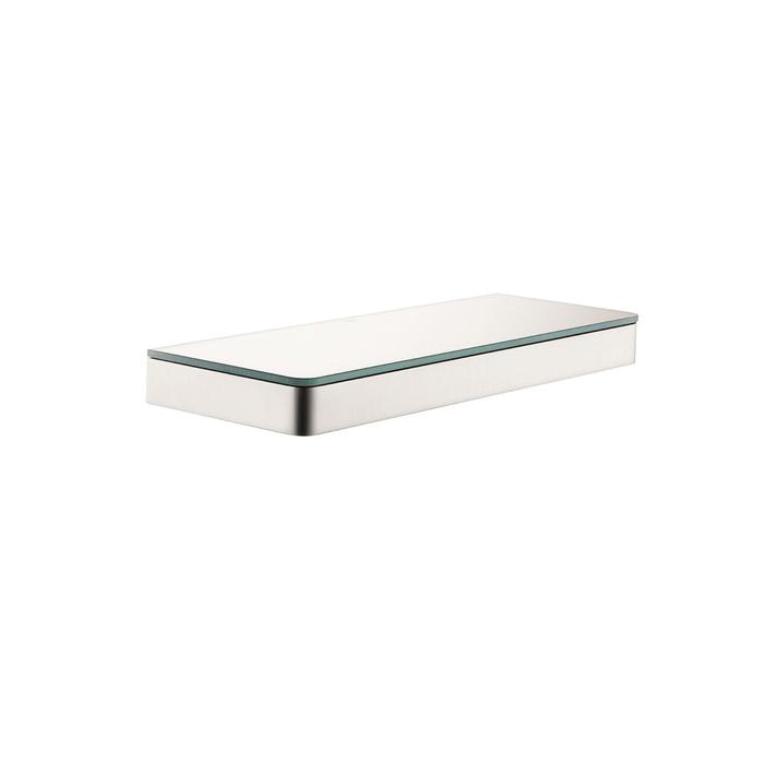 Hansgrohe 42838820 Axor Universal EU Version Shelf, 11-3/4 in OAL x 4-3/8 in OAD x 1-1/8 in OAH, Glass/Metal, Import