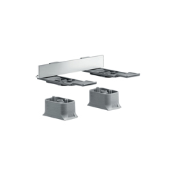 Hansgrohe 42870000 Axor Universal EU Version Modular Adapter Set, Brass/Metal, Chrome Plated, Import