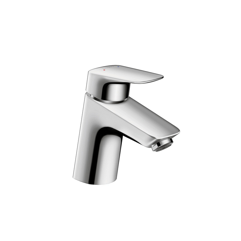 Hansgrohe 71078001 Logis 70 Bathroom Faucet, 1 gpm, 2-5/8 in H Spout, 1 Handle, 1 Faucet Hole, Chrome Plated, Domestic