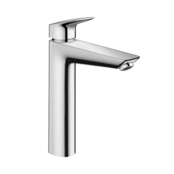 Hansgrohe 71090001 Logis 190 Bathroom Faucet, 1.2 gpm, 7-5/8 in H Spout, 1 Handle, 1 Faucet Hole, Chrome Plated, Domestic
