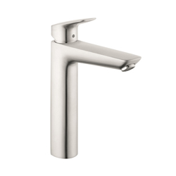 Hansgrohe 71090821 Logis 190 Bathroom Faucet, 1.2 gpm, 7-5/8 in H Spout, 1 Handle, 1 Faucet Hole, Brushed Nickel, Domestic