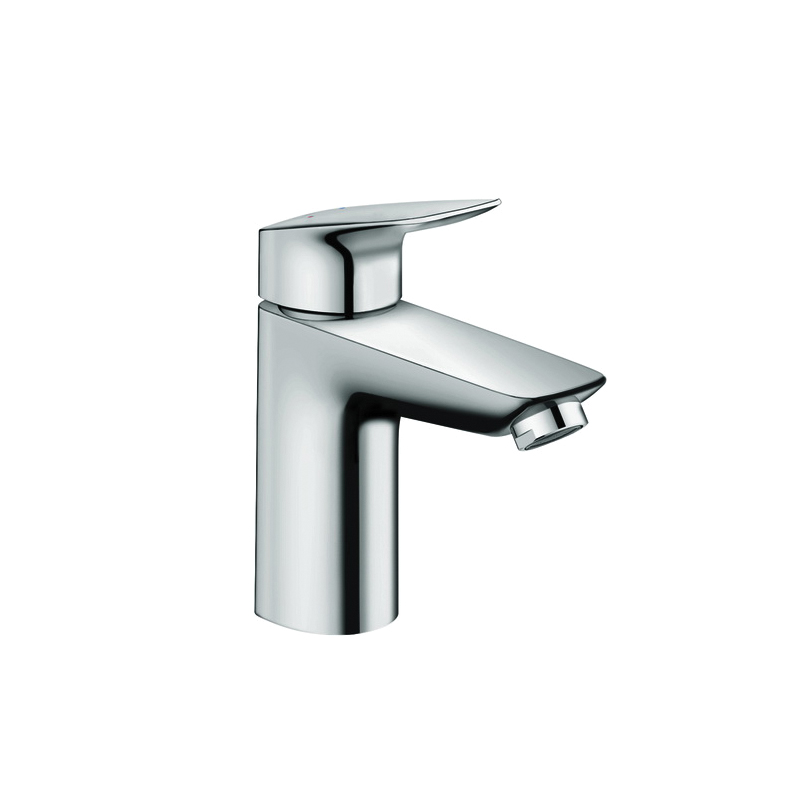 Hansgrohe 71100001 Logis 100 Bathroom Faucet, 1.2 gpm, 3-5/8 in H Spout, 1 Handle, Pop-Up Drain, 1 Faucet Hole, Chrome Plated, Domestic