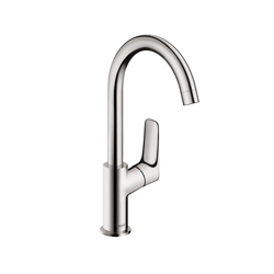 Hansgrohe 71130001 Logis 210 Bathroom Faucet, 1.2 gpm, 8-3/4 in H Spout, 1 Handle, Pop-Up Drain, 1 Faucet Hole, Chrome Plated, Domestic