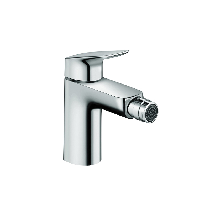 Hansgrohe 71200001 Logis 70 Bidet Faucet, 1 gpm, 3-7/8 in H Spout, 1 Handle, Pop-Up Drain, Chrome Plated, Domestic