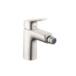 Hansgrohe 71200821 Logis 70 Bidet Faucet, 1 gpm, 3-7/8 in H Spout, 1 Handle, Pop-Up Drain, Brushed Nickel, Domestic
