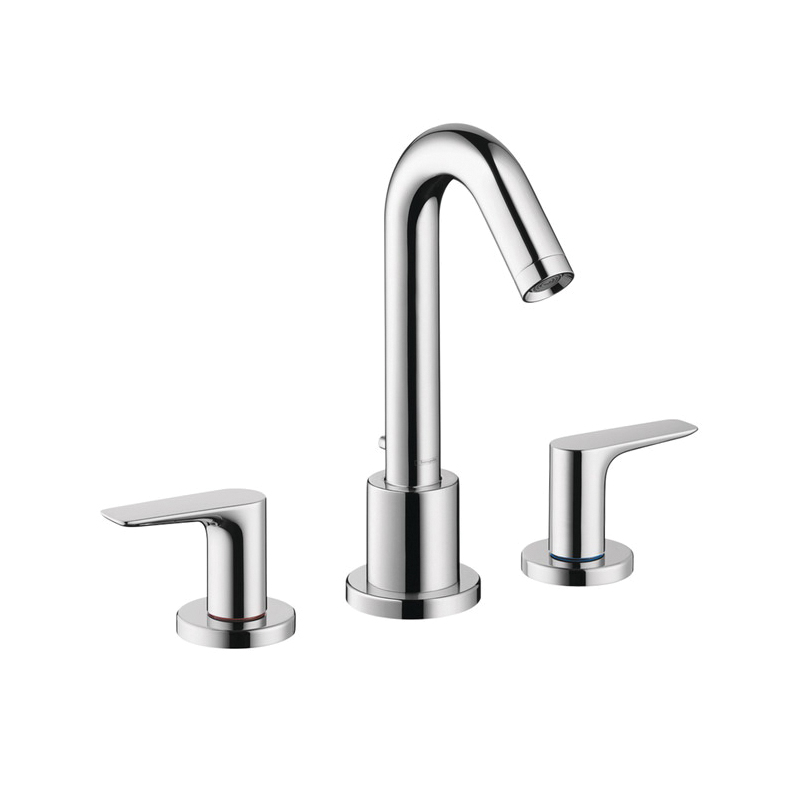 Hansgrohe 71500001 Logis Roman Tub Set Trim, 5.8 gpm, 4-7/8 in Center, Chrome Plated, 2 Handles, Hand Shower Yes/No: No, Domestic