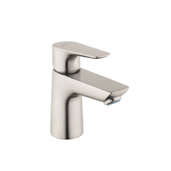 Hansgrohe 71700821 Talis E 80 Basin Mixer, 1.2 gpm, 2-3/4 in H Spout, 1 Handle, Pop-Up Drain, 1 Faucet Hole, Brushed Nickel
