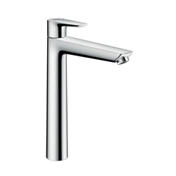 Hansgrohe 71717001 Talis E Basin Mixer Without Pop-Up Waste Set, 1.2 gpm, 9-1/4 in H Spout, 1 Handle, 1 Faucet Hole, Chrome Plated