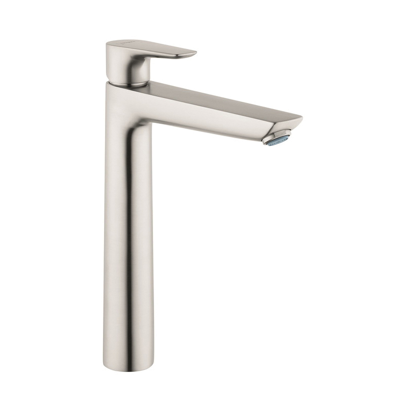 Hansgrohe 71717821 Talis E Basin Mixer Without Pop-Up Waste Set, 1.2 gpm, 9-1/4 in H Spout, 1 Handle, 1 Faucet Hole, Brushed Nickel
