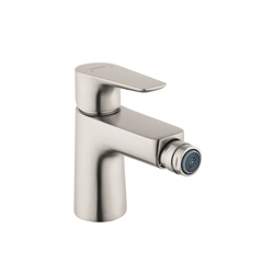 Hansgrohe 71720821 Talis E Bidet Faucet, 1.5 gpm, 3-1/8 in H Spout, 1 Handle, Pop-Up Drain, Brushed Nickel