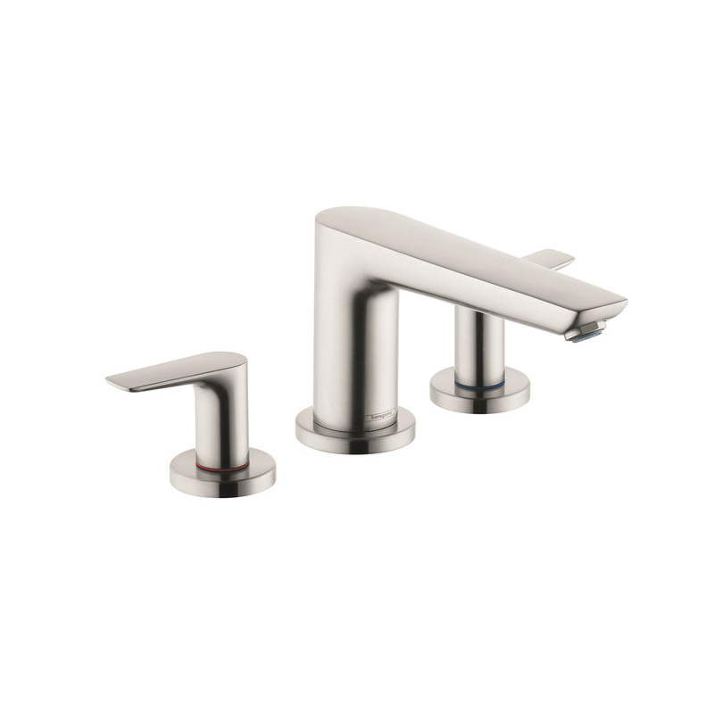 Hansgrohe 71747821 Talis E Roman Tub Set Trim, 5.8 gpm, Brushed Nickel, 2 Handles, Hand Shower Yes/No: No