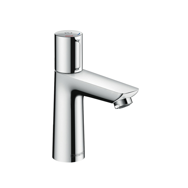 Hansgrohe 71750001 Talis E 110 Basin Mixer, 1.2 gpm, 4-1/8 in H Spout, 1 Handle, Pop-Up Drain, 1 Faucet Hole, Chrome Plated