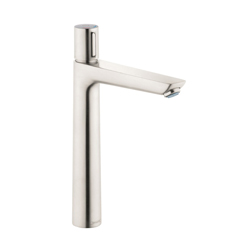 Hansgrohe 71753821 Talis E 240 Basin Mixer Without Pop-Up Waste Set, 1.2 gpm, 9-1/4 in H Spout, 1 Handle, 1 Faucet Hole, Brushed Nickel