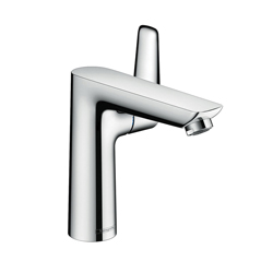 Hansgrohe 71754001 Talis E Basin Mixer, 1.2 gpm, 5-1/4 in H Spout, 1 Handle, Pop-Up Drain, 1 Faucet Hole, Chrome Plated