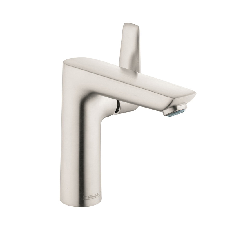 Hansgrohe 71754821 Talis E Basin Mixer, 1.2 gpm, 5-1/4 in H Spout, 1 Handle, Pop-Up Drain, 1 Faucet Hole, Brushed Nickel