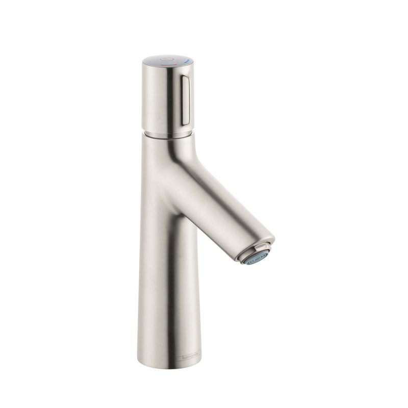 Hansgrohe 72042821 Talis S 100 Basin Mixer, 1.2 gpm, 3-7/8 in H Spout, 1 Handle, Pop-Up Drain, 1 Faucet Hole, Brushed Nickel