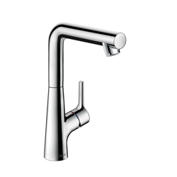 Hansgrohe 72105001 Talis S 210 Basin Mixer, 1.2 gpm, 8-7/8 in H Spout, 1 Handle, Pop-Up Drain, 1 Faucet Hole, Chrome Plated
