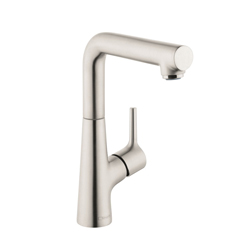 Hansgrohe 72105821 Talis S 210 Basin Mixer, 1.2 gpm, 8-7/8 in H Spout, 1 Handle, Pop-Up Drain, 1 Faucet Hole, Brushed Nickel