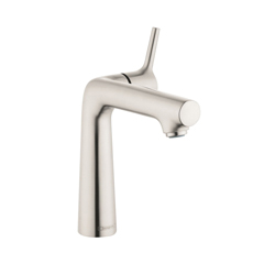 Hansgrohe 72113821 Talis S 140 Basin Mixer, 1.2 gpm, 5-5/8 in H Spout, 1 Handle, Pop-Up Drain, 1 Faucet Hole, Brushed Nickel
