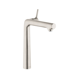 Hansgrohe 72116821 Talis S 140 Basin Mixer Without Pop-Up Waste Set, 1.2 gpm, 10 in H Spout, 1 Handle, 1 Faucet Hole, Brushed Nickel