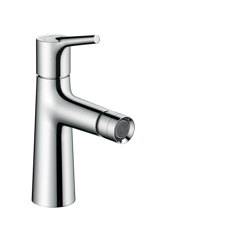 Hansgrohe 72200001 Talis S Bidet Faucet, 1.5 gpm, 3-7/8 in H Spout, 1 Handle, Pop-Up Drain, Chrome Plated