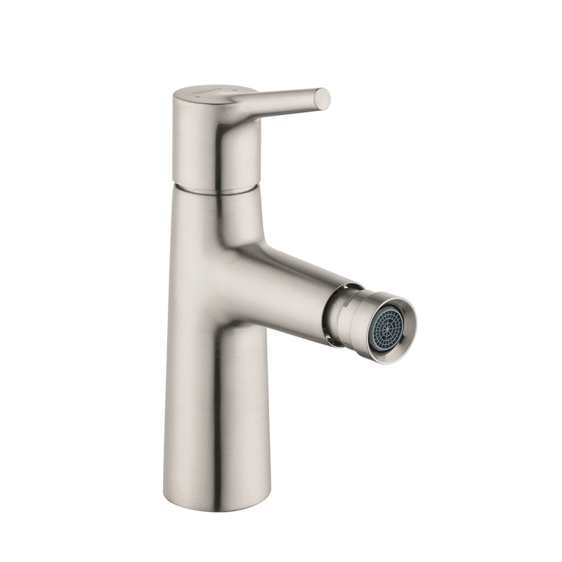 Hansgrohe 72200821 Talis S Bidet Faucet, 1.5 gpm, 3-7/8 in H Spout, 1 Handle, Pop-Up Drain, Brushed Nickel