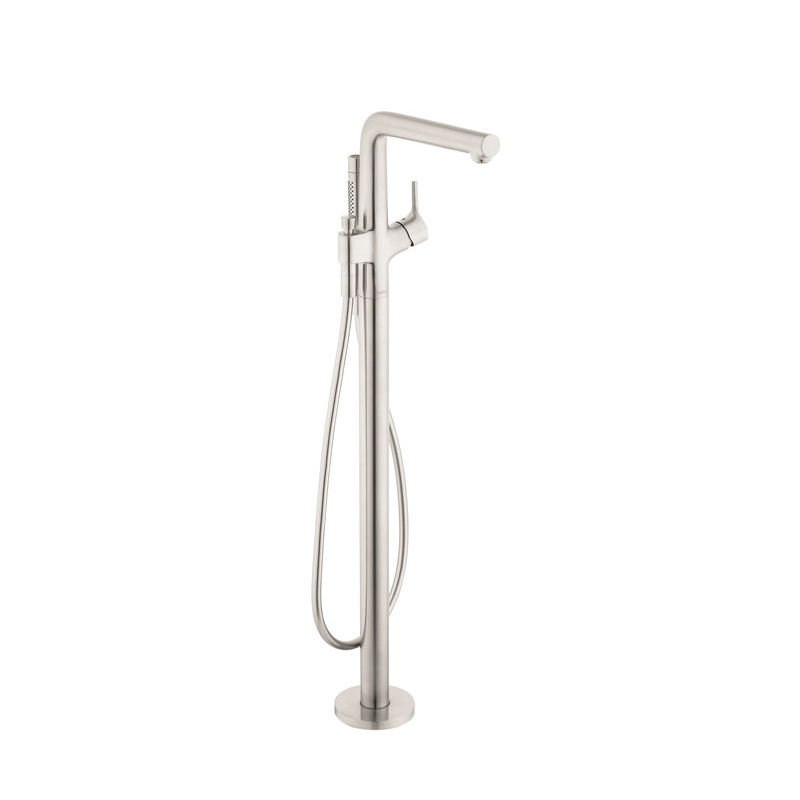 Hansgrohe 72412821 Talis S Free Standing Tub Filler Trim, 5.5 gpm, Brushed Nickel, 1 Handles, Hand Shower Yes/No: Yes