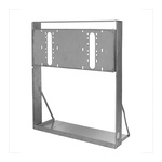 Haws® MTGFR.LG In-Wall Mounting Frame, For Use With Dual Bubbler Electric Fountain, Heavy Gauge Steel