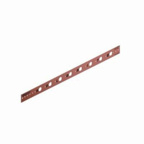 Holdrite® 101-26 Flat Bracket, 5/8 in Hole, 25 lb, Cold Rolled Steel, Copper-Bonded™