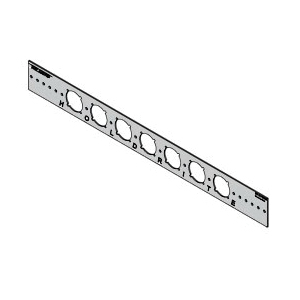 Holdrite® 103-18 Bracket, 1-3/8 in Hole, 25 lb, Cold Rolled Steel, Galvanized, Domestic