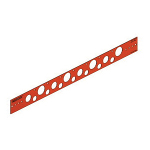 Holdrite® 107-26 Flat Bracket, 0.88 in, 0.63 in, 1.33 in, 1.38 in Hole, 25 lb, Cold Rolled Steel, Copper-Bonded™, Domestic
