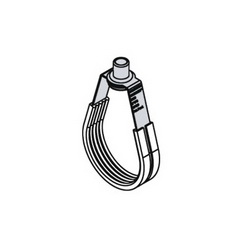 Holdrite® SILENCER™ 310 Acoustic Swivel Loop Hanger With 3/8 in Swivel Nut and TPE Liner, 4 in IPS/CTS Pipe, 650 lb Load, Carbon Steel