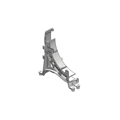 Holdrite® PEXRITE® 708 In-Slab Double Run Support Bracket, 25 lb, Reinforced Polypropylene, Domestic