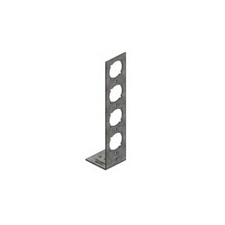 Holdrite® PEXRITE® 709-EXT 90 deg Bracket With 1-3/8 in Keyed Hole, 25 lb, Cold Rolled Steel, Galvanized, Domestic