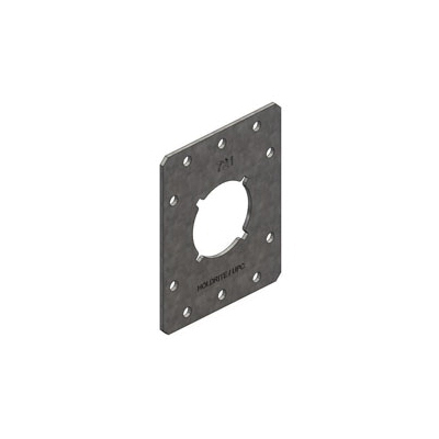 Holdrite® Stout Bracket® 721 Single Hole Bracket With 1-3/8 in Keyed Hole, 25 lb, Cold Rolled Steel, Galvanized, Domestic
