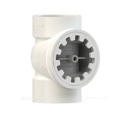 Holdrite® TESTRITE® TRPVC3A-B DWV Test/Cleanout Tee With Brass Insert Plug, 3 in, PVC, Domestic