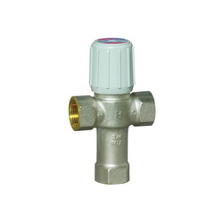 Honeywell AM101-1LF/U AM-1 Adjustable Thermostatic Mixing Valve, 3/4 in, NPT, 150 psi, 0.5 gpm, Brass Body, Domestic