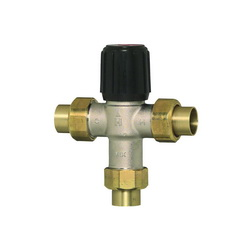 Honeywell AM100C1070-US-1LF AM-1 Thermostatic Mixing Valve, 1/2 in, Union C, 150 psi, Brass Body, Domestic