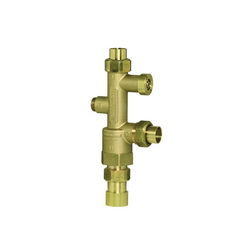Honeywell DirectConnect™ AMX101-UT-1LF/U Thermostatic Mixing Valve, 3/4 in, Union NPT, Brass/Stainless Steel Body, Domestic