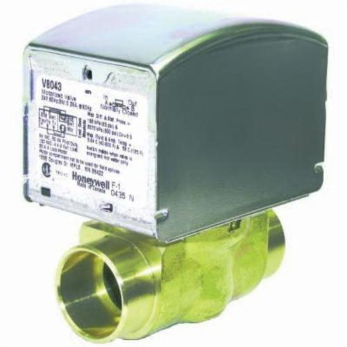 Honeywell V8043E5079/U 2-Way Low Voltage Zone Valve, 1 in, C, 300 psi, 8 Cv, 24 VAC, Import