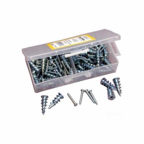 Dottie® WDK8 4730 Wall Board Anchor Kit, 3 Pieces, #8 x 1-1/4 in, Zinc Alloy