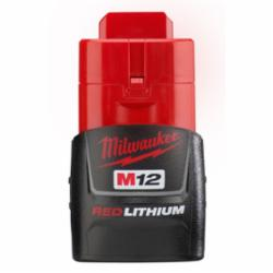 Milwaukee® 48-11-2401 M12™ Rechargeable Cordless Battery Pack, 1.5 Ah Li-Ion Battery, 12 VDC, For Use With Milwaukee® M12™ Cordless Power Tools, Bare Tool